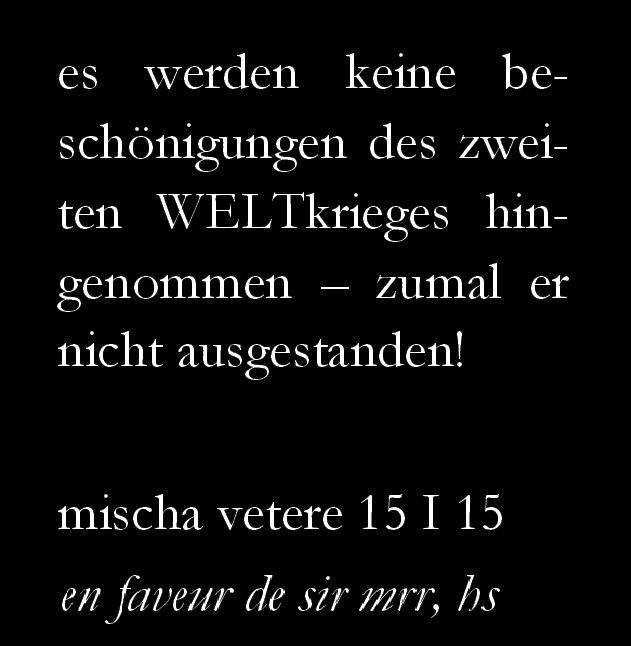 mischa vetere DIE GEISTIGE REVOLUTION marcel reich-ranicki helmut schmidt max frisch 2. weltkrieg