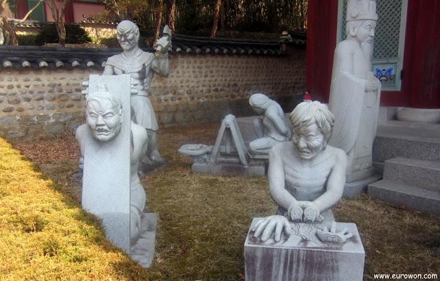 Representación de uno de los infiernos budistas