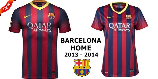 Jersey Couple Barcelona Home 2013-2014