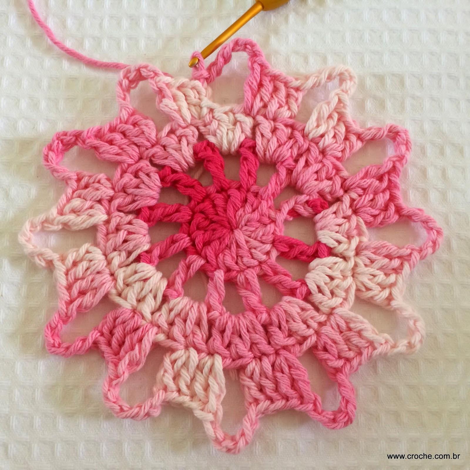 Flor Em Croch Para Cortina Passo A Passo Croche Com Br