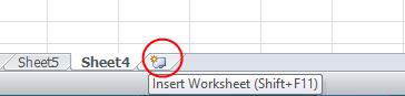 Wstaw Arkusz w Excelu - Excel 2010 Screen