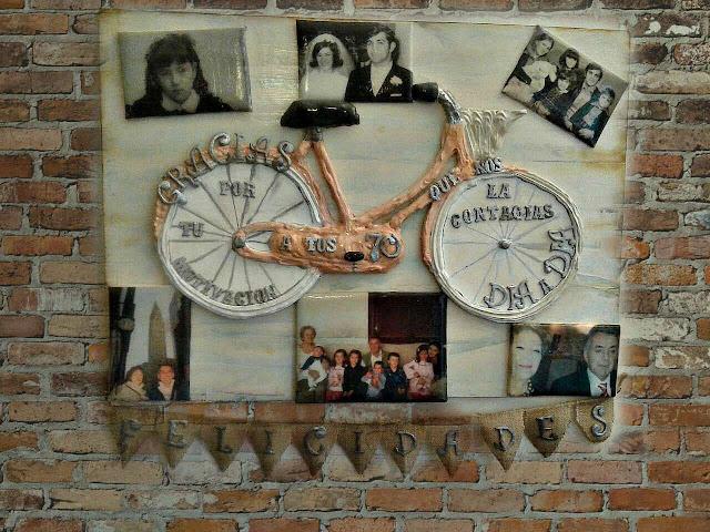 cuadro de bicicleta con fotos,recupera tus fotos antiguas