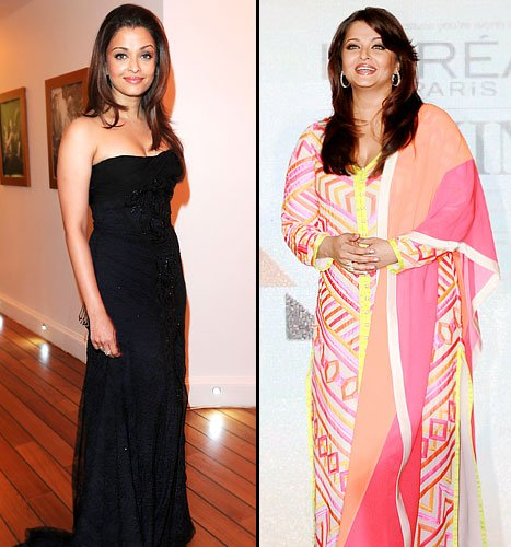 Aishwarya Rai Bachchan Fat Pictures at Cannes French Riviera