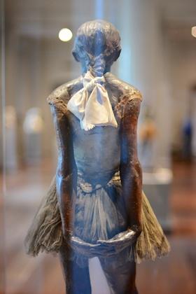 Little Dancer of Fourteen Years by Degas, reverse