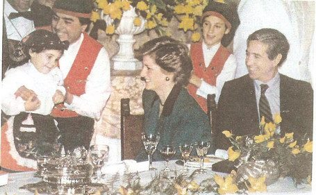 Grupo Folclorico Ribatejano Visita princesa Diana, Castelo de Sao Jorge, Lisboa, 1987