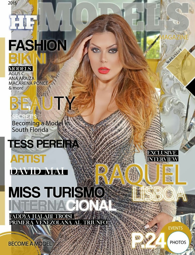 Actress, TV host @ Raquel Lisboa - HFModels Magazine, May 2015