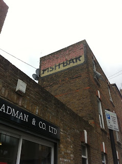 Ghost sign for a Fish Bar, London W9