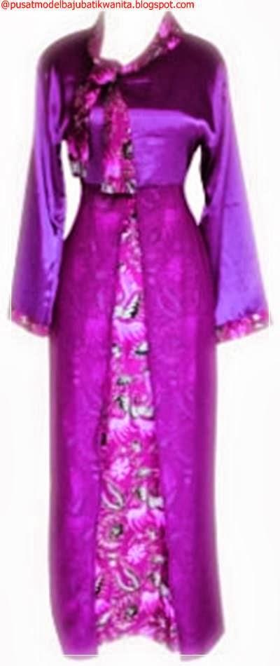 Model Baju Batik Gamis Modern Wanita Terbaru Busana