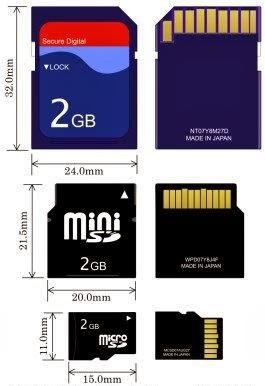 Formatos de cartões SD - 265x386