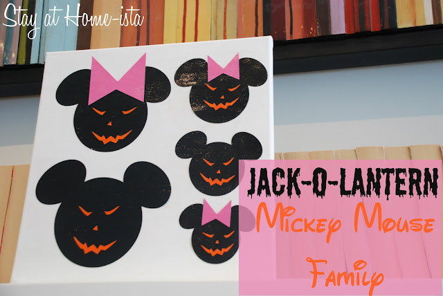Jack-O-Lantern Mickey Mouse Family