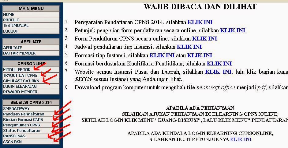Daftar Menu Cpnsonline.com, Manfaat Menjadi Member di Cpnsonline Indonesia