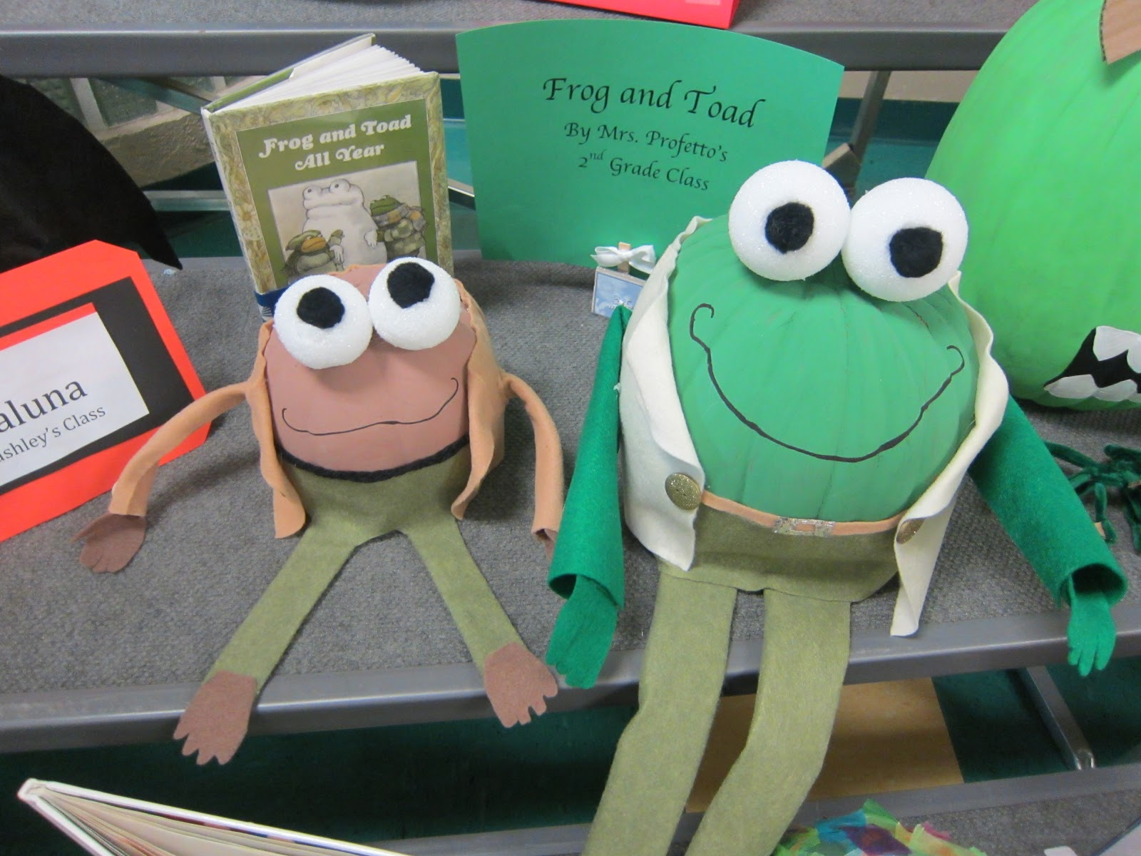 Frog and Toad Character Pumpkin