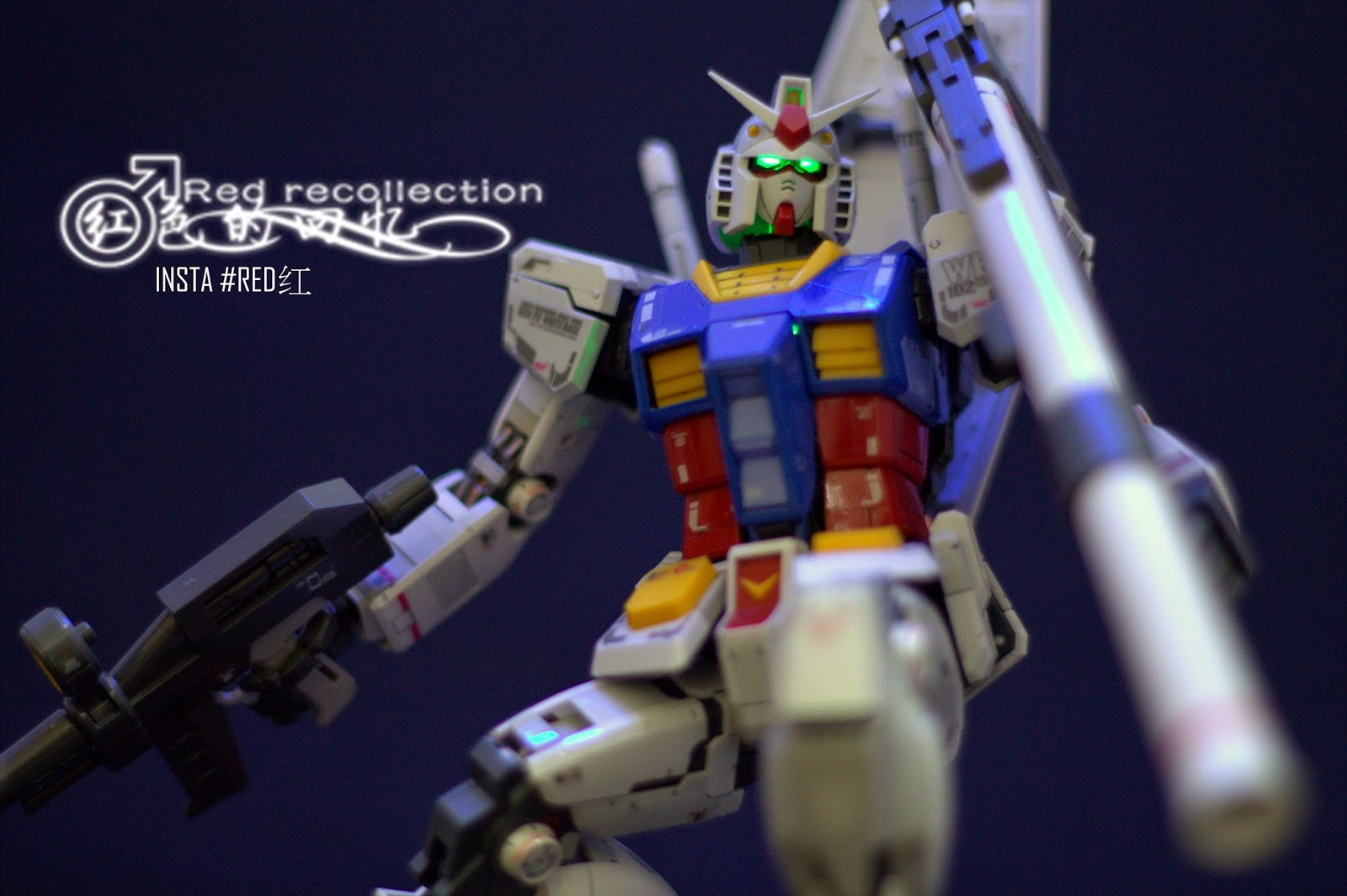 RX-78 T Have the decals did exactly the same with the 1:1 RX-78-2 Gundam at  DiverCity ,Tokyo . The eyes are green , for a temporarily moment because i  haven't get ...