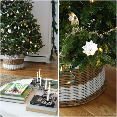 christmas tree and basket via Meet Me in Philadelphia