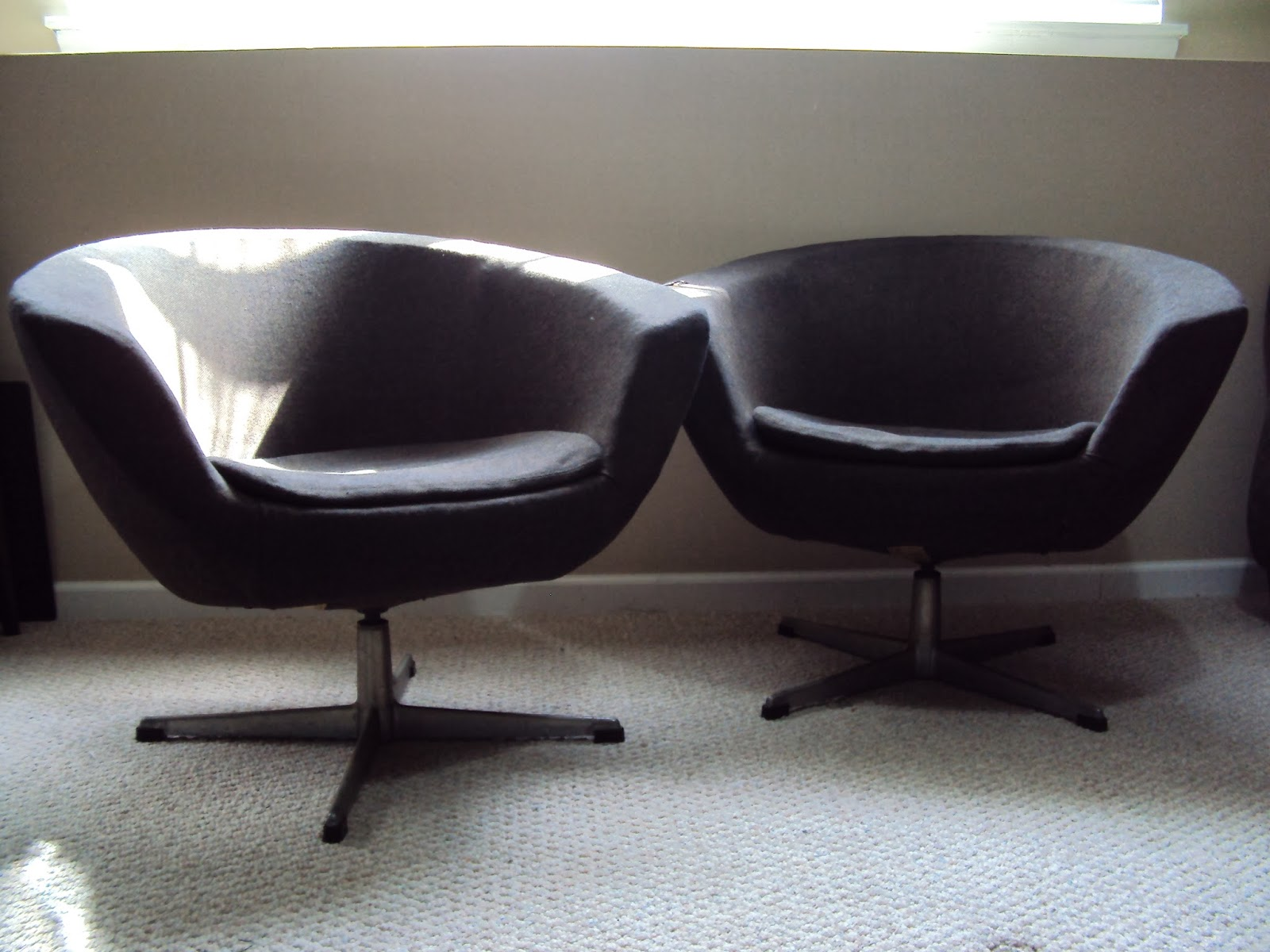 Overman Pod Chair Pair   SOLD!