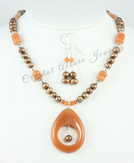 Sarah's Custom Bridesmaid Autumn Necklace Sets (N087)