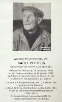 Honderdjarige en oud-brandweerman Karel Peeters 1891-1992