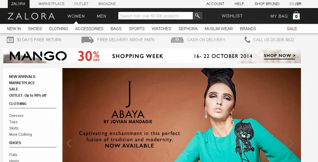 Shopping di Zalora.com.my