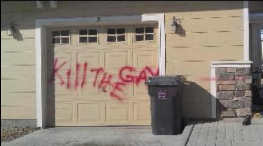 Someone painted an anti-gay message on their garage and left a noose on ...