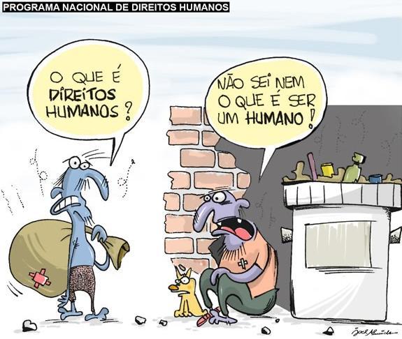 Resultado de imagem para direitos humanos charge