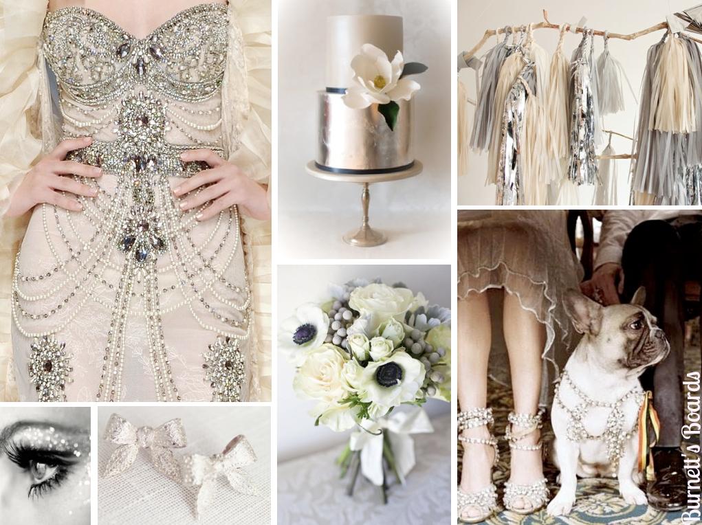 Magnífico Vestidos De Fiesta Blanco Y Plata Ideas Ornamento ...
