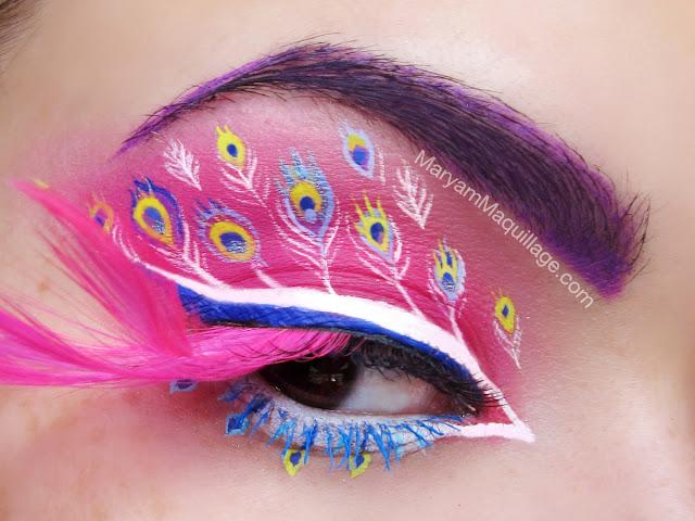 "Maryam Maquillage: ""Pink Peacock"" Fantasy Makeup! Peacock Fantasy Makeup"