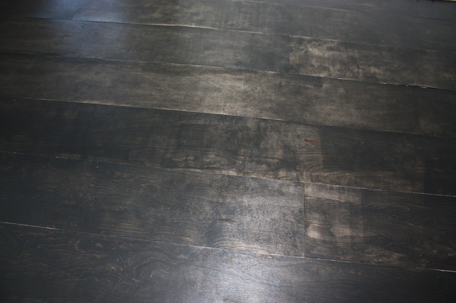 All quiet on the midwestern front diy plywood floor tutorial for Black painting ideas
