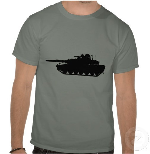Squirrel Tshirt ~ Darwin's Survival of the Fittest squirrel on a tank