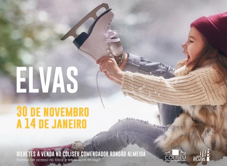 PISTA DE GELO - COLISEU COMENDADOR RONDÃO ALMEIDA - 30 DE NOVEMBRO A 14 DE JANEIRO DE 2019 - ELVAS.