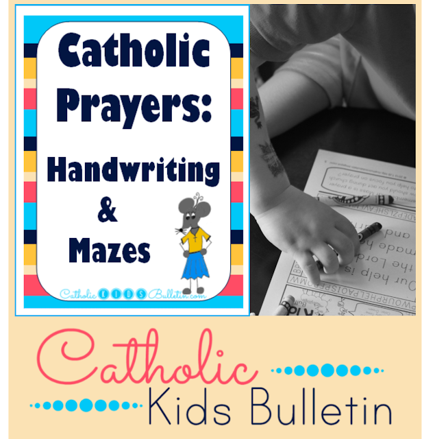Catholic Prayers: Handwriting and Mazes