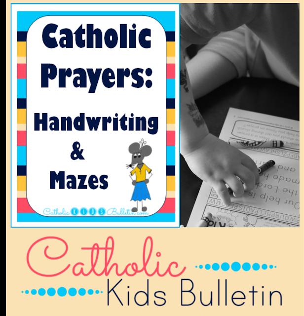 Catholic Prayers: Handwriting and Mazes