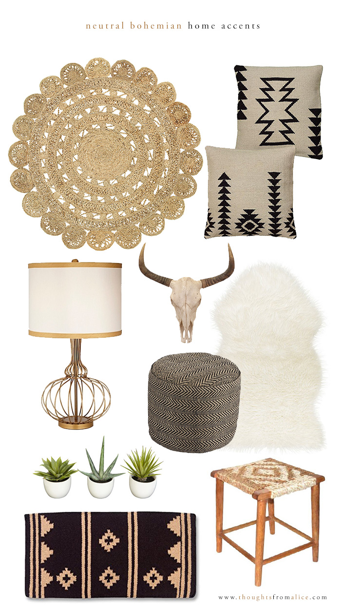 Thoughts From Alice Neutral Bohemian Home Accents Home Decor And Accents