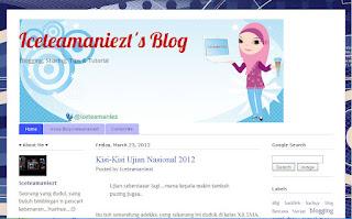redesain tampilan blog iceteamaniezt