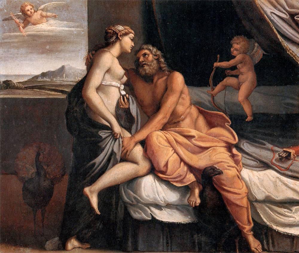 Zeus y Hera de Annibale Carracci
