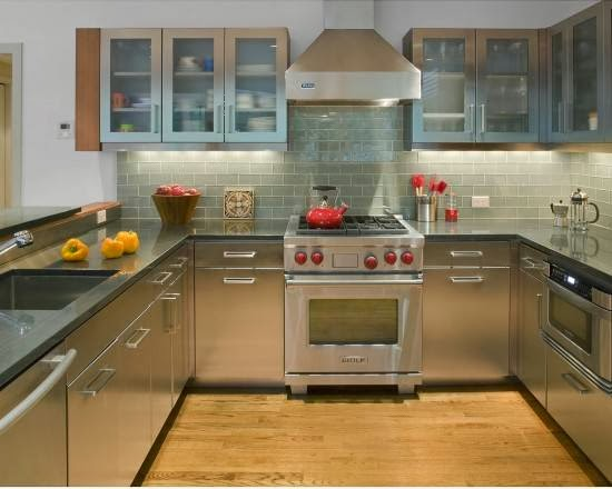 Home decorating interior design ideas kitchen backsplash for Brushed sage kitchen cabinets