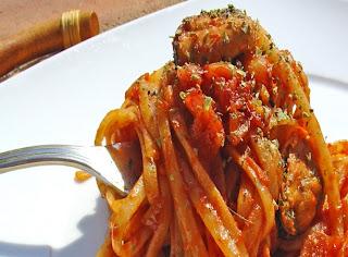 como hacer espaguetis con mejillones: