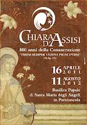 CHIARA D'ASSISI  800 anni della Consacrazione