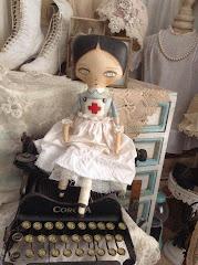 Vintage Style Nurse Doll