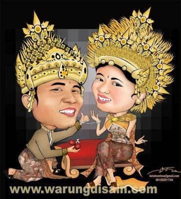 Karikatur wajah online, Prewedding Bali - Kaos Batam, kaos khas batam