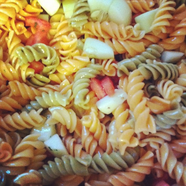 brighter yellow: Best Pasta Salad Ever