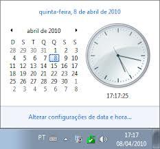 relogio do computador- hora do relógio do computador