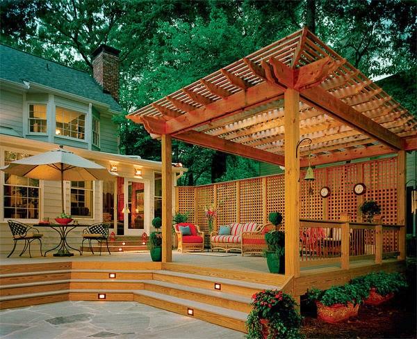 wooden floor and outdoor pergola | Manufacturers Outdoor Furniture
