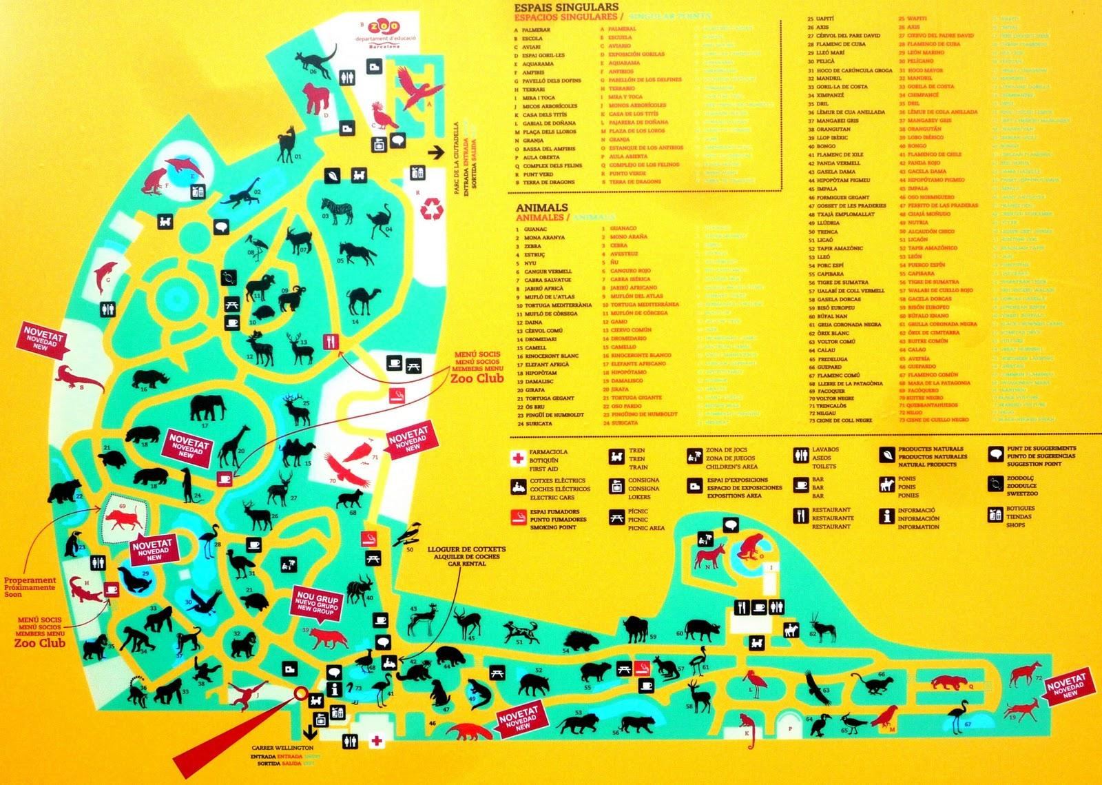 Zoo Barcelona zoo barcelona mapa