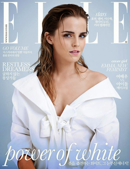 Actress, Model: Emma Watson - ELLE Korea March 2015