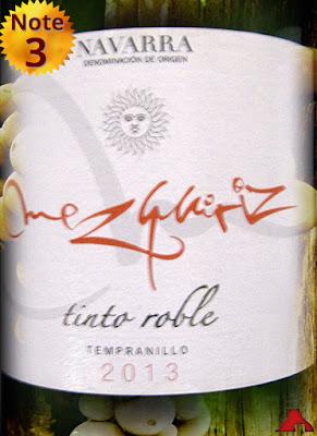 Mezquriz Temopranillo Tinto Roble Navarra 2013
