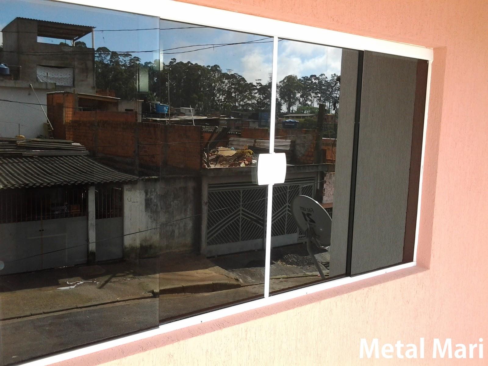 #B74014 Metal Mari Esquadrias : Vitro de vidro fumê temperado 8 mm (Metal  2004 Janela De Aluminio Vidro Fume