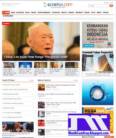daftar situs paling populer indonesia Kompas.com