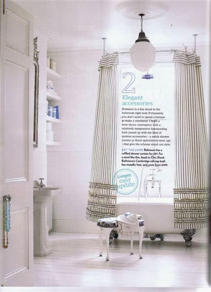 loft & cottage: tuesday tip: shower curtain drapes