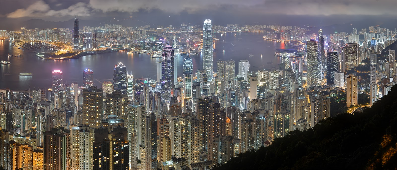 Visit world hong kong skyline wallpaper for Best city skylines in the world