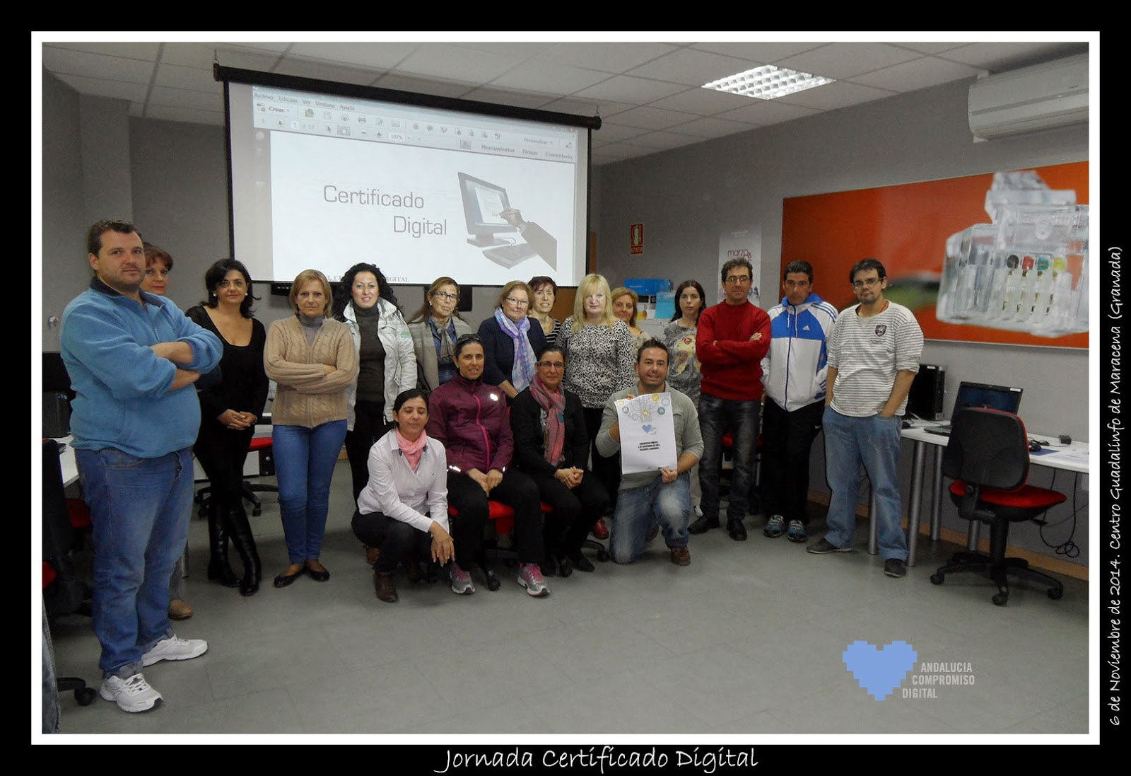 Jornada de certificado digital en maracena tecnoinfe for Oficina virtual de fpe